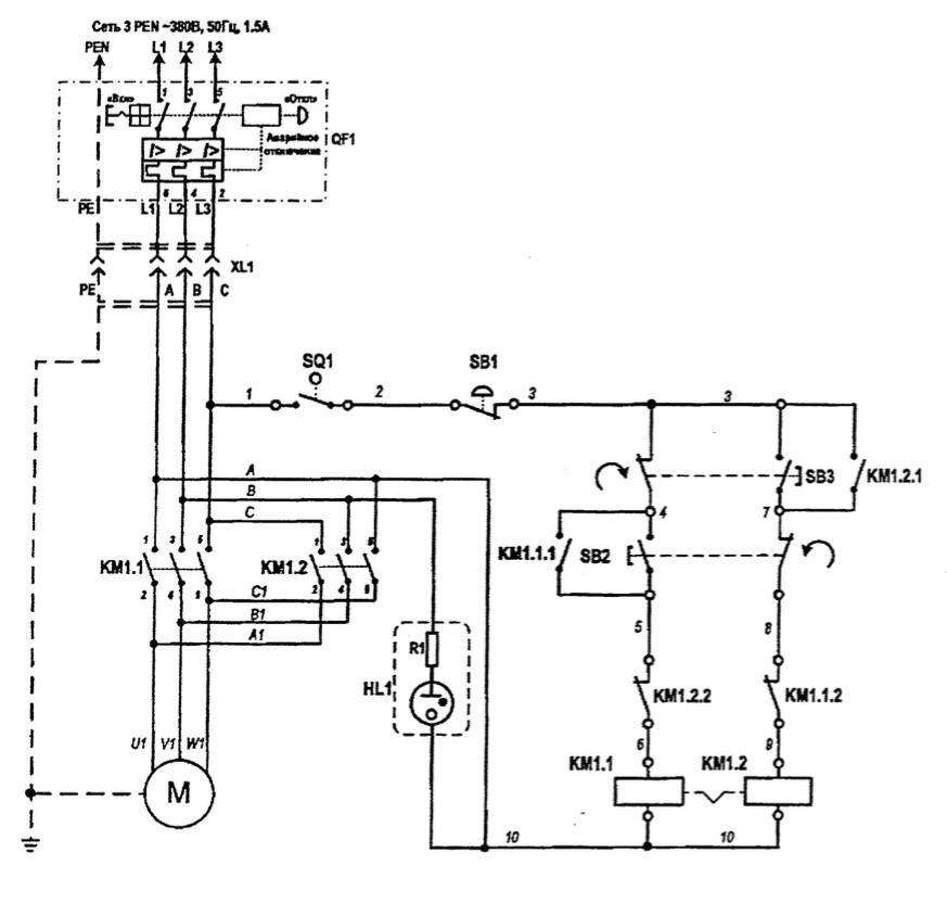 схема электрических соединений ас2116м