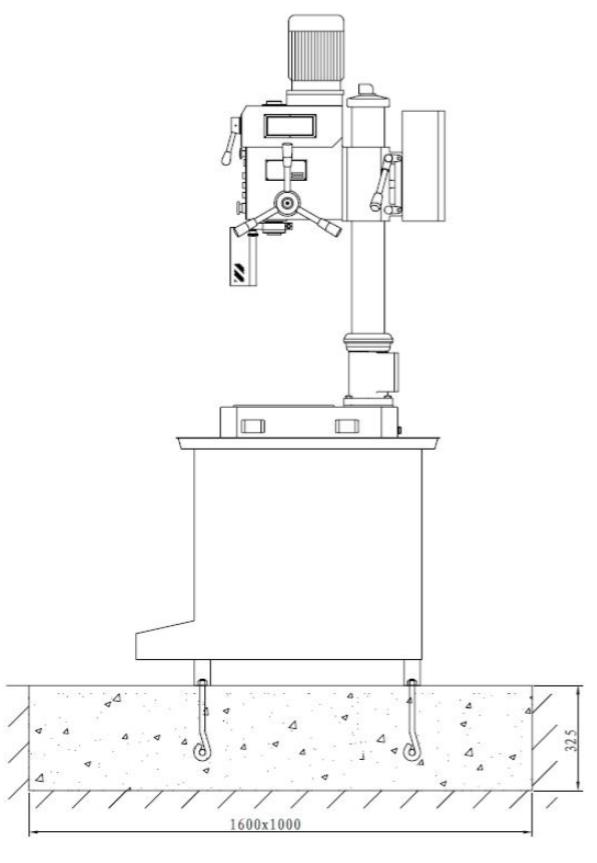 схема установки станка zn4025