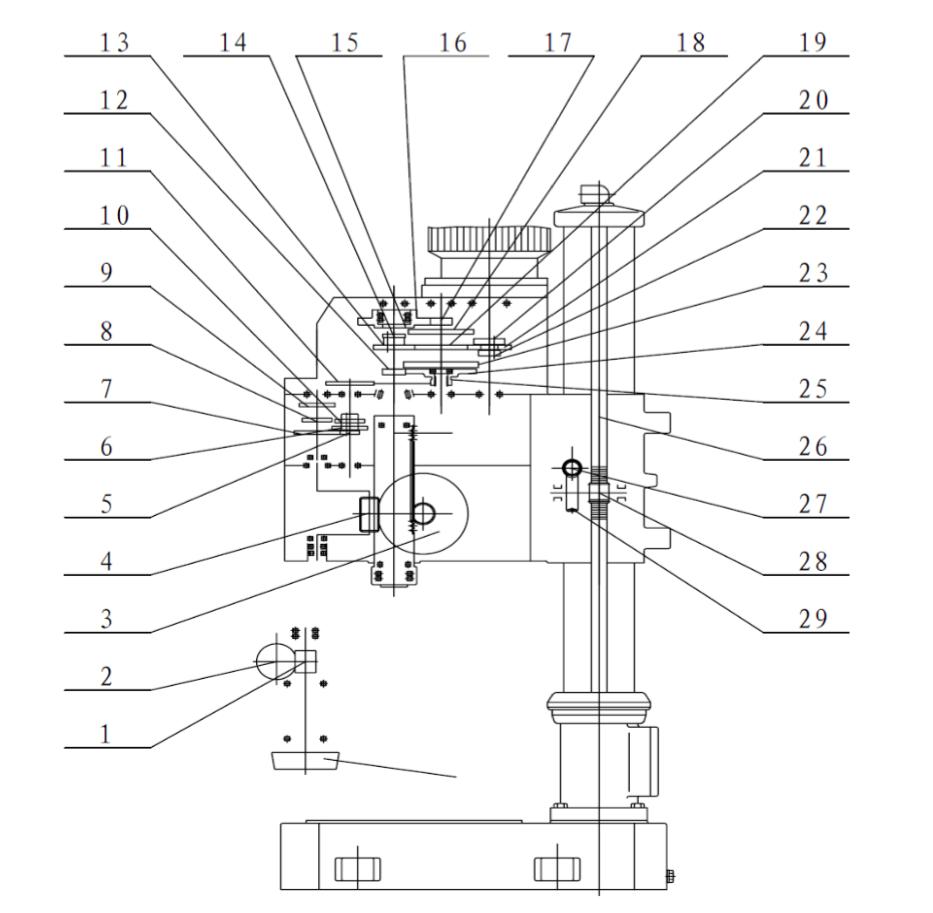 общий вид станка zn4035