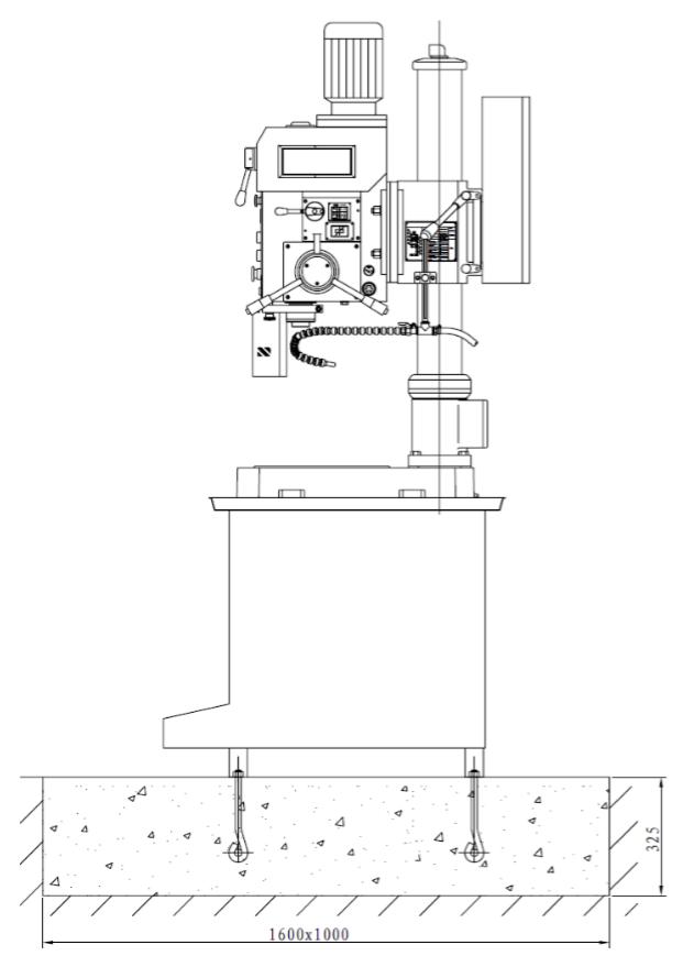 схема установки станка zn4035
