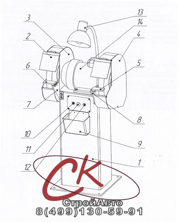 устройство и составные части станка тш-3.20