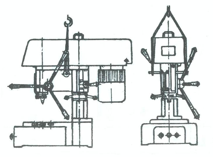 Схема транспортировки станка 2М112